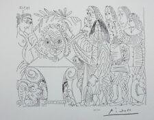 PICASSO (d'après) - Le buste du peintre -  LITHOGRAPHIE érotique signée #1200ex