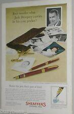 1958 Sheaffer's Pen ad, Boxer Jack Dempsey