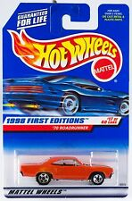 Hot Wheels 1998 First Editions #17 '70 Roadrunner #661 New On Card