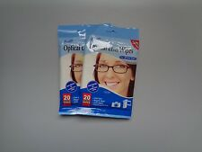 2 Pack de 20 Lingette Lunettes Optique - Total 40 Lingettes Neuf