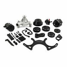 SBC BLACK ANODIZED CHEVY SERPENTINE PULLEY KIT W/BLK A/C ALTERNATOR P/S XO18 K1