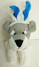 Dandee Dog Plush Easter Gray White Bunny Rabbit Ears Stuffed Animal Toy