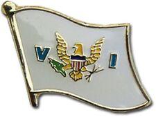 U.S. Virgin Islands Flag Bike Motorcycle Hat Cap lapel Pin