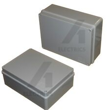 2 x Weatherproof Junction Box 190mm / 19cm for Outdoor Electrical Connections