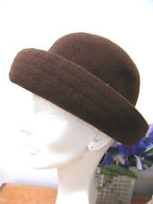 ST MICHAEL MARKS & SPENCER md UK. DK BROWN WOOL CRUSHABLE HAT 1 SZ FITS MOST