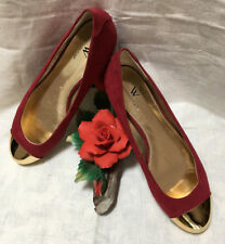 Women,s New Worthington Meredith DK RED flat shoes.9M China,
