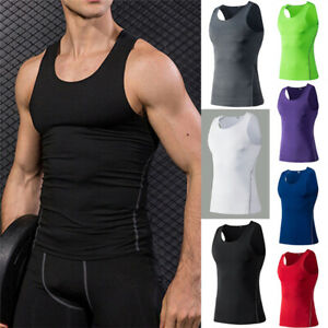F/_Gotal Men Gym Tank Tops Slimming Body Seamless Tank Tops V Neck Workout Shirts Bodybuilding Sleeveless Fitness Vest