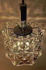 Kinkeldey Chrome Cristal Lustre Lampe à Suspension 70er Loft Design Vintage