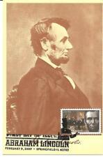 Abraham Lincoln as President USA FDC Maximum Card, Scott #4383