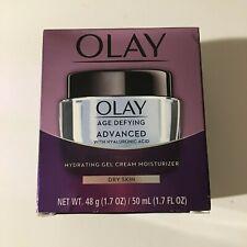 Olay Age Defying Advanced Hydrating Gel Cream Moisturizer Dry Skin 1.7 oz NEW