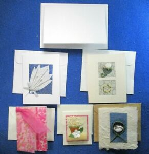 6 Assorted Gift Enclosures all with Envelopes all 3 Dimensional and Handmade
