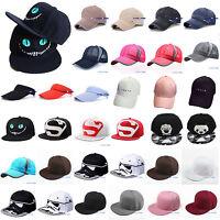 Mens Womens Unisex Baseball Cap Sport Snapback Hip-Hop Adjustable Sun Summer Hat