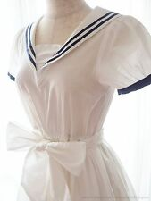 E hyphen w.g. BonBon Summer Sailor Flared Ribbon Dress Hime Lolita Kawaii Japan