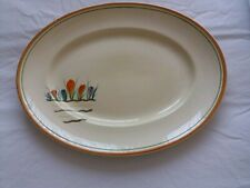 "CLARICE CLIFF ""BIZARRE"" ART DECO LARGE OVAL SERVING PLATTER"