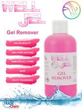 Well Jel Nail Polish Gel Remover UV LED Acetone 250ml Manicure