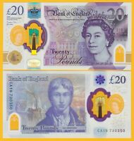 England 20 Pounds p-new 2020 UNC Polymer Banknote