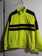 Neon green GorTex waterproof pullover
