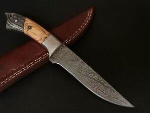 "9"" INCH CUSTOM HAND MADE DAMASCUS STEEL BLADE HUNTING KNIFE CF-5612"