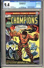 Champions #1  CGC 9.4 OWW NM  Marvel Comics 1975 Ghost Rider Black Widow Iceman