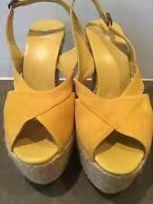 Castaner Yellow Suede Wedges Size 38 Good Condition