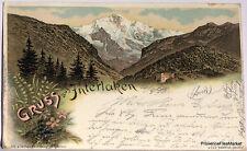 CPA Precurseur SUISSE GRUSS aus INTERLAKEN 1898  voir scan ht def  Lae472