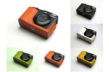 Handmade Real Half Leather Case Camera Case Camera bag for CANON G12 5 colors