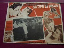 "RARE-1951 MEXICAN LOBBY CARD-""SU TIPO DE MUJER,""(HIS KIND OF WOMAN) J. RUSSELL"