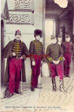 POSTMARK ST GILLES BELGIUM SOUS-OFFICIERS BRIGADIER ET CAVALIERS DES GUIDES 1905