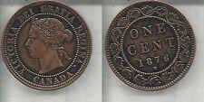 CANADA 1 CENT 1876 H VITTORIA SPL