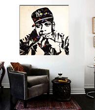 Jay-Z Mr.Banksy Canvas Print 24 x 24 Old School Hip Hop Grafitti Street Art