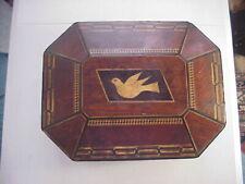 1870s FOLK ART INLAID JEWELRY BOX Possibly by HARVEY DOANE Auburn Prisoner