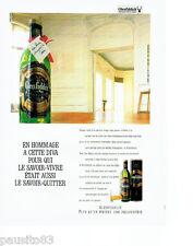 PUBLICITE ADVERTISING 086  1987  Glenfiddich  whisky hommage  à la Diva