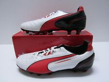 Puma Momentta Mg Mens Leather Soccer Cleats White/Red/Black Size 10.5