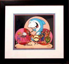 hanna barbera cel signed jabberjaw rare super 70's edition animation art cell
