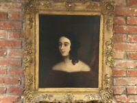 19th Century...ENGLISH SCHOOL...OIL ON CANVAS...PORTRAIT OF A LADY