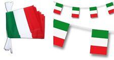DECORAZIONE BANDERUOLE ITALIA 12 GAGLIARDETTI BANDIERA 20 X 15 cm maglia sciarpa