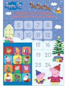 PEPPA PIG Countdown to Christmas Advent Reward Chart and 24 Stickers