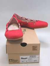 EL NATURALISTA Womens CROCHE Antique Red Leather Ballet Flat Size US 7 (N961)