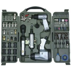 Air Tool Combo Kit, 71pcs (WF-016)+(PU011-10) 10m (32ft) PU Air Hose 6,5mmX10mm,