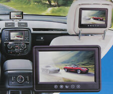 9'' 16:9 HD Color TFT LCD 2 Video Input Headrest DVD VCR Car Rear View Monitor