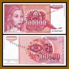 Yugoslavia 100000 (100 Thousand) Dinara, 1989 P-97 Unc
