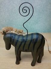 Wooden Animal Wire photo, card holders: Zebra