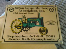 Nittany Antique Machinery Assn. Show 2001 Dash Plaque Center Hall Pa.