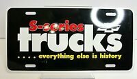 Vtg Dealer Booster Licence Plate Tag S Series Chevy Truck History Metal