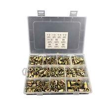 300x Zinc Steel Rivet Nut Kit Rivnut Nutsert Assort 150pcs Metric150pcs Sae