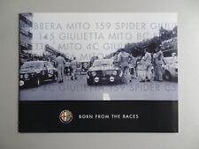 V00580 ALFA ROMEO BOOK - MITO GIULIETTA 159 BRERA SPIDER 8C COMPETIZIONE