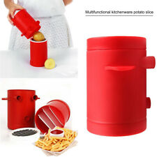 DIY Easy Fries Potatoes Maker Potato slicers French Fries Maker Cutter Red CA