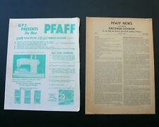 PFAFF Sewing Machine vintage 1960's brochure 261 262 362 80 cabinet + 1967 News