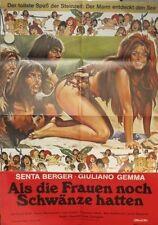 Als die Frauen noch Schwänze hatten SENTA BERGER Filmplakat Poster 1970 Sexy