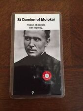 ST. DAMIEN OF MOLOKAI 3RD CLASS RELIC + HOLY CARD